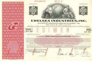 Chelsea Industries, Inc - $5,000