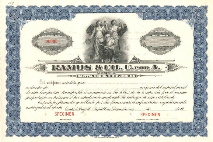 Ramos and Co., C. Por A. - Stock Certificate