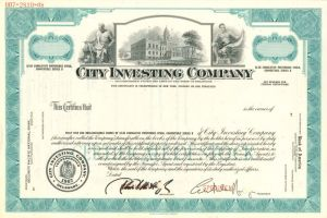 City Investing Company - Stock Certificate