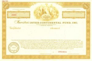 Investors Inter-Continental Fund, Inc. - Stock Certificate