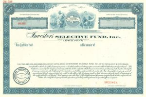 Investors Selective Fund, Inc. - Stock Certificate