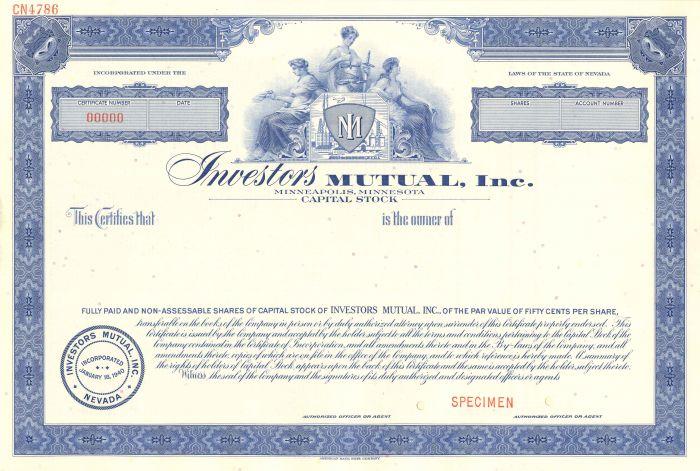 Investors Mutual, Inc. - Stock Certificate