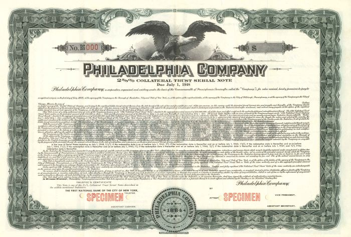 Philadelphia Company - Bond