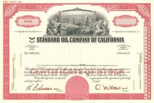 Standard Oil Company of California - Stock Certificate