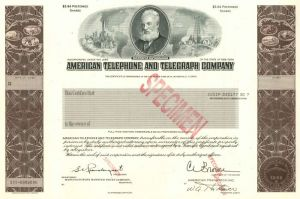 American Telephone and Telegraph Company - Stock Certificate