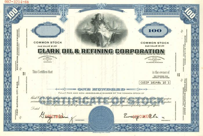 Clark Oil & Refining Corporation - SOLD