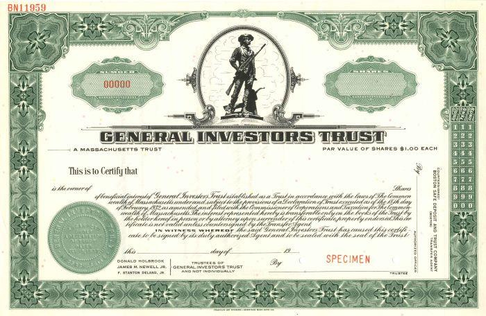 General Investors Trust - Stock Certificate