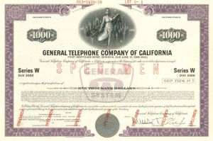 General Telephone Company of California - $1,000