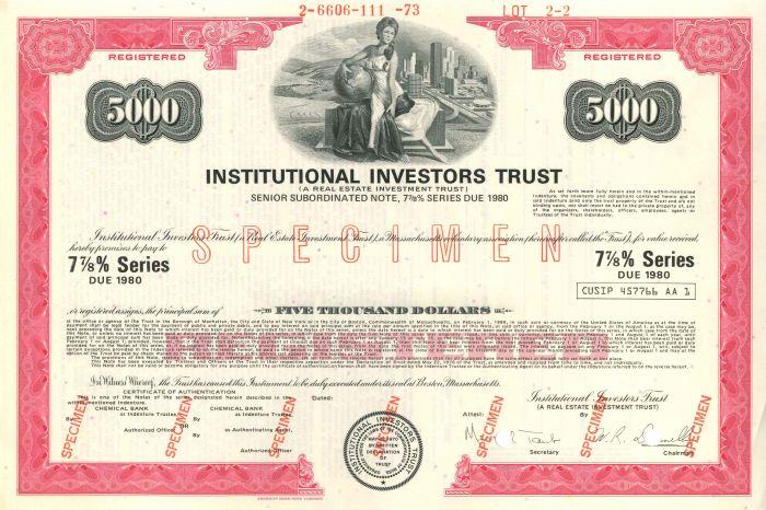 Institutional Investors Trust - $5,000 or $1,000 - Bond
