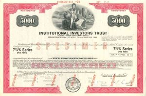 Institutional Investors Trust - $5,000 or $1,000 - Bond