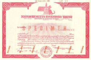 Massachusetts Investors Trust - Stock Certificate - SOLD