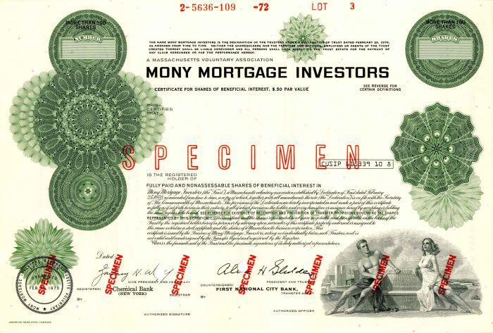 Mony Mortgage Investors - Stock Certificate