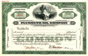 Plymouth Oil Company - Stock Certificate