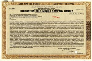 Stilfontein Gold Mining Company Limited