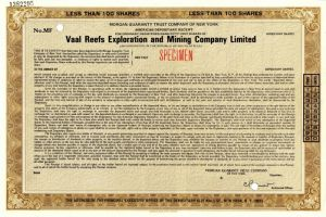 Vaal Reefs Exploration and Mining Company Limited