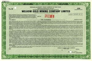 Welkom Gold Mining Company Limited