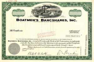 Boatmen's Bancshares, Inc. - SOLD