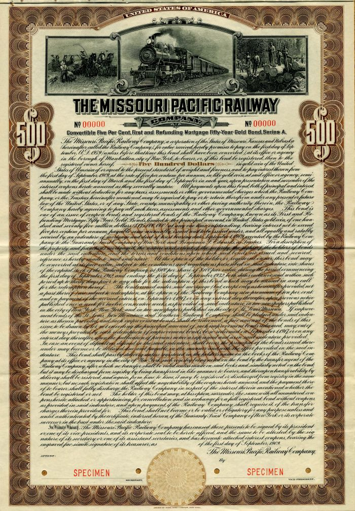Missouri Pacific Railway Company - $500