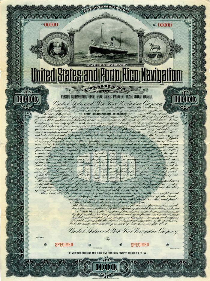 United States and Porto Rico Navigation Company