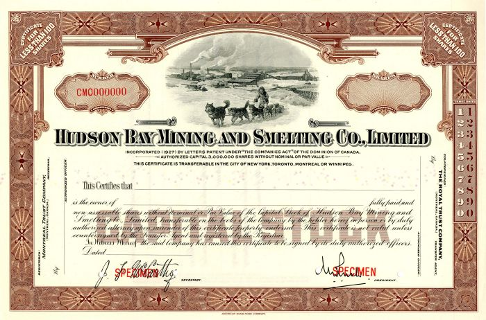 Hudson Bay Mining and Smelting Co., Limited