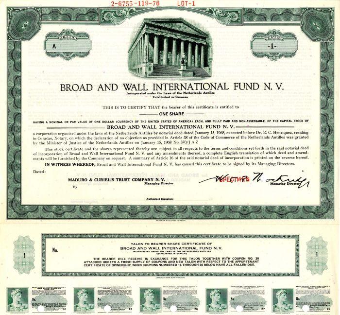 Broad and Wall International Fund N.V.