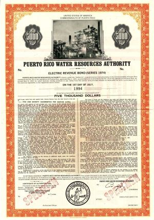 Puerto Rico Water Resources Authority - $5,000