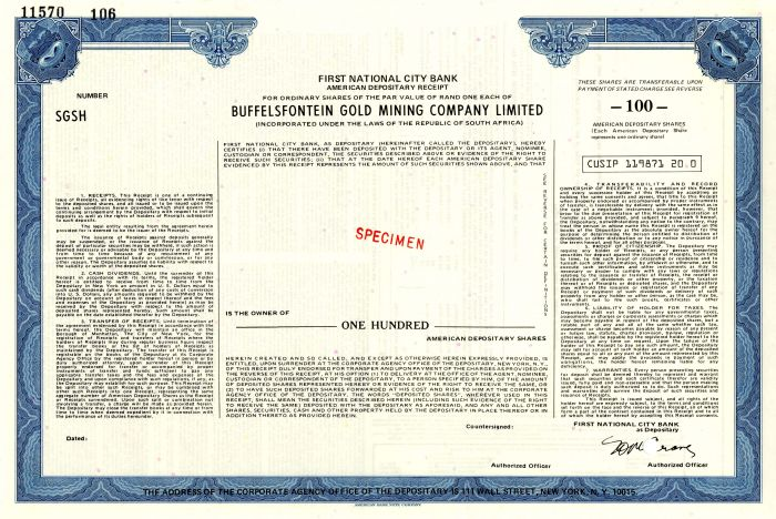 Buffelsfontein Gold Mining Company Limited