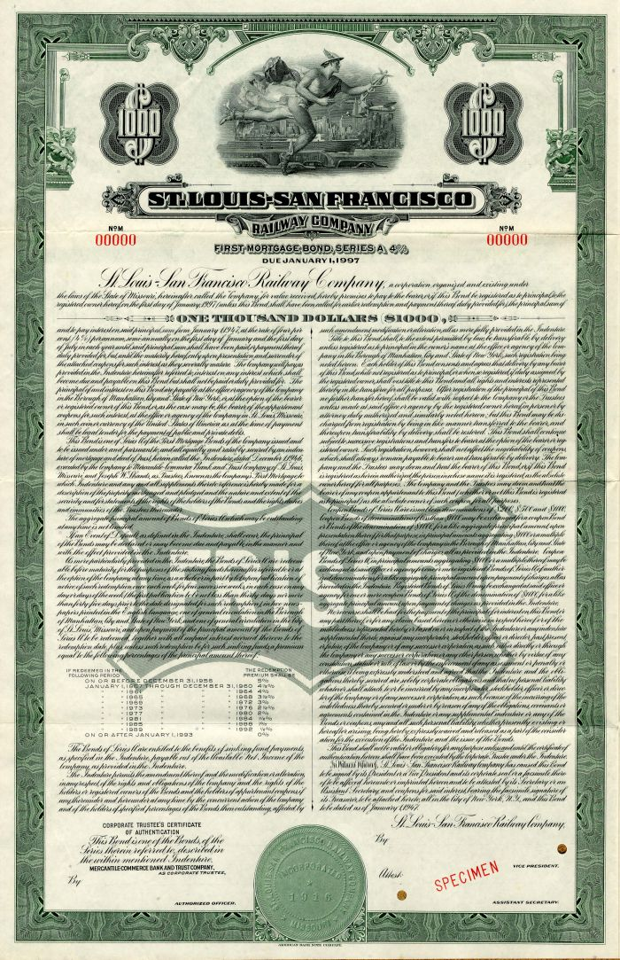 St. Louis-San Francisco Railway Company - $1,000