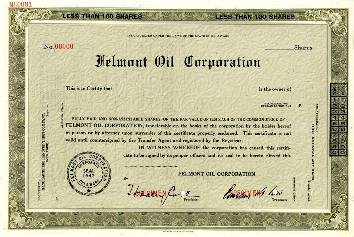 Felmont Oil Corporation