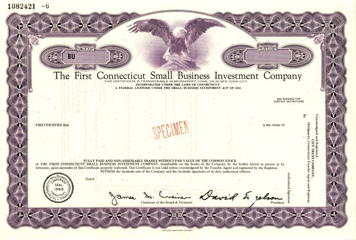 First Connecticut Small Business Investment Company
