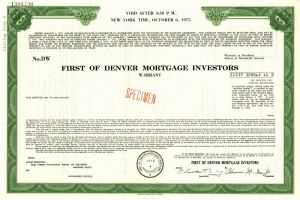 First of Denver Mortgage Investors