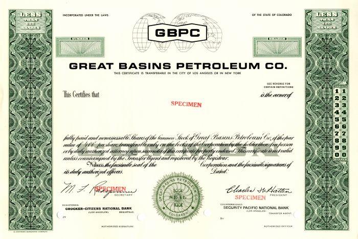 Great Basins Petroleum Co.