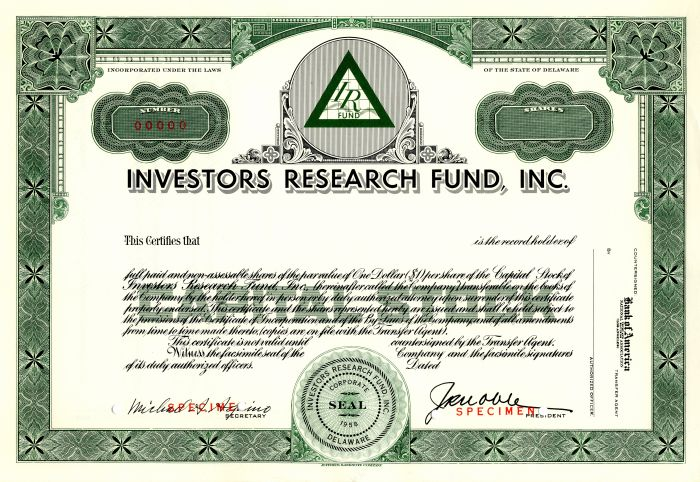 Investors Research Fund, Inc.