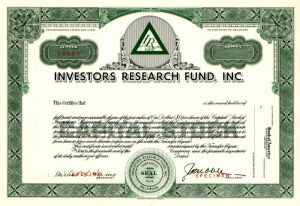 Investors Research Fund, Inc.