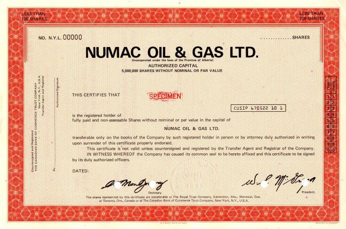 Numac Oil & Gas Ltd.
