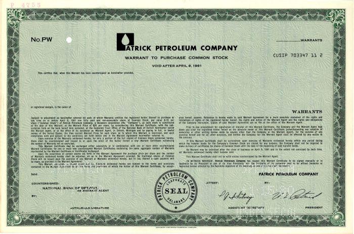 Patrick Petroleum Company