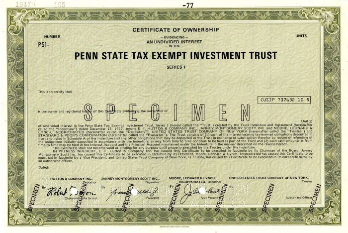 Penn State Tax Exempt Investment Trust