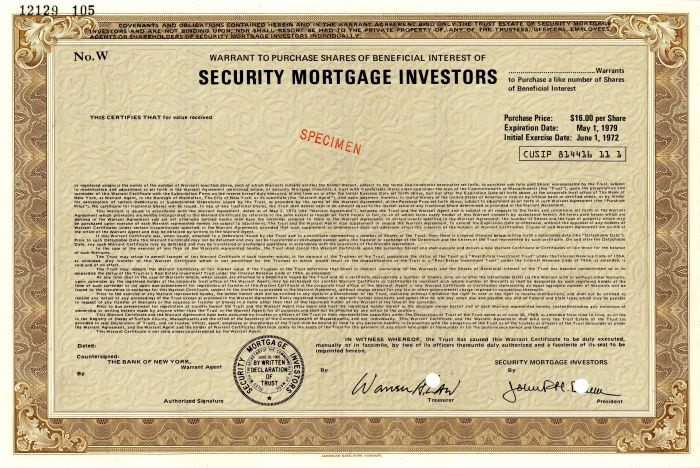 Security Mortgage Investors