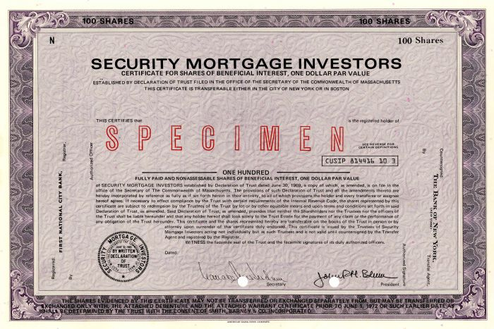 Security Mortgage Investors