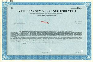Smith, Barney & Co. Incorporated