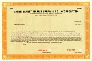 Smith Barney, Harris Upham & Co. Incorporated