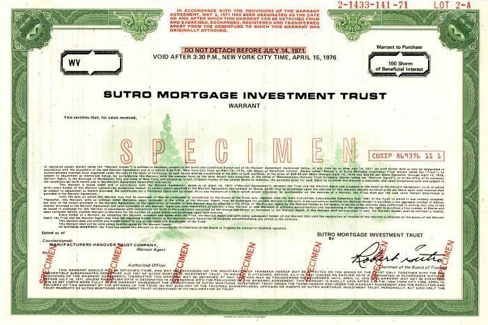 Sutro Mortgage Investment Trust