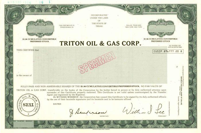 Triton Oil & Gas Corp.