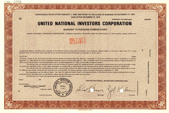 United National Investors Corporation