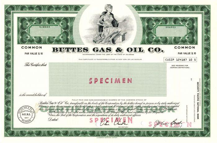 Buttes Gas & Oil Co.