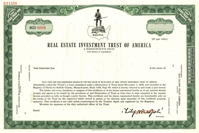 Real Estate Investment Trust of America