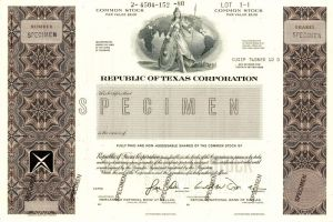 Republic of Texas Corporation - SOLD
