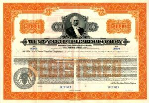 New York Central Railroad Company - $50,000 Specimen Bond