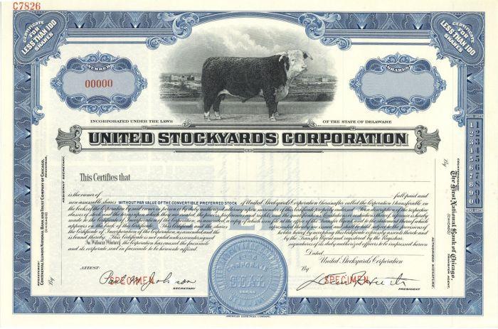 United Stockyards Corporation - Specimen Stock