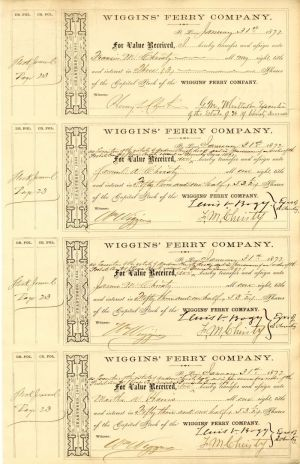 Wiggins' Ferry Company Sheet of 4